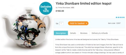 yinka shonibare tea pot