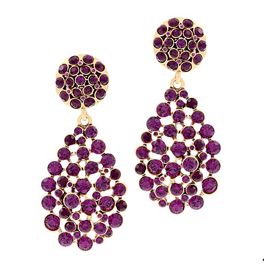 Chandelier earrings from Oscar de la Renta