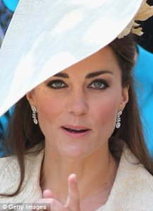 Oh Kate, you are a truly beautiful Royal, but this heavy black eye pencil is adding at least 5 years to your face...if only it was grey!