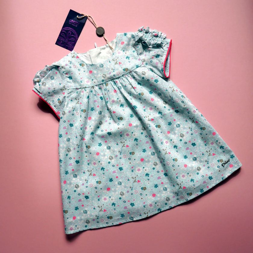 liberty chloe baby dress blue pink